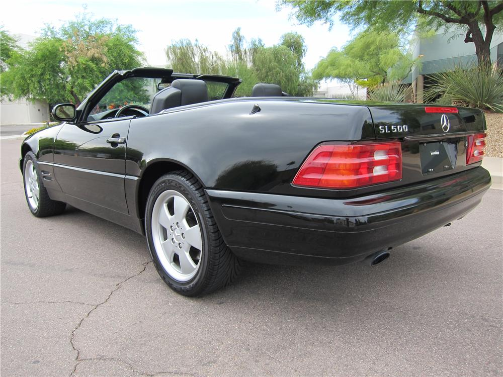 1999 MERCEDES-BENZ SL500 CONVERTIBLE - Rear 3/4 - 108271