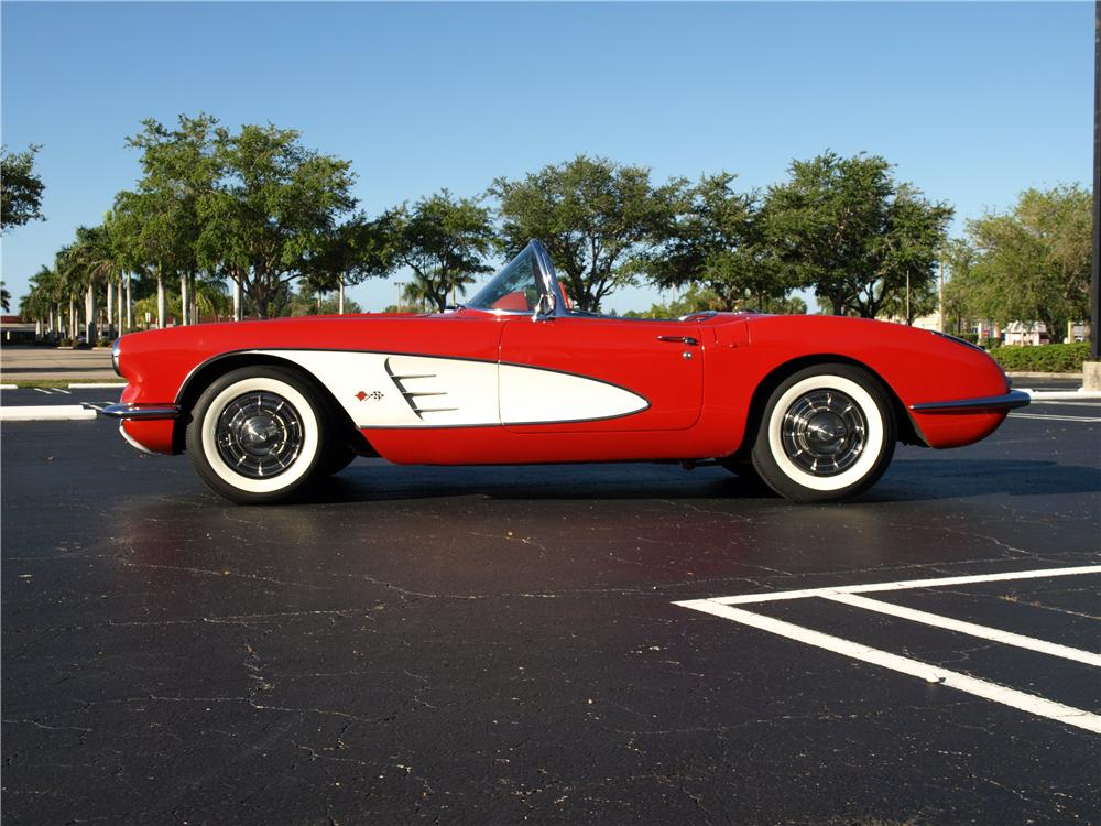 1958 CHEVROLET CORVETTE CONVERTIBLE - Side Profile - 108297