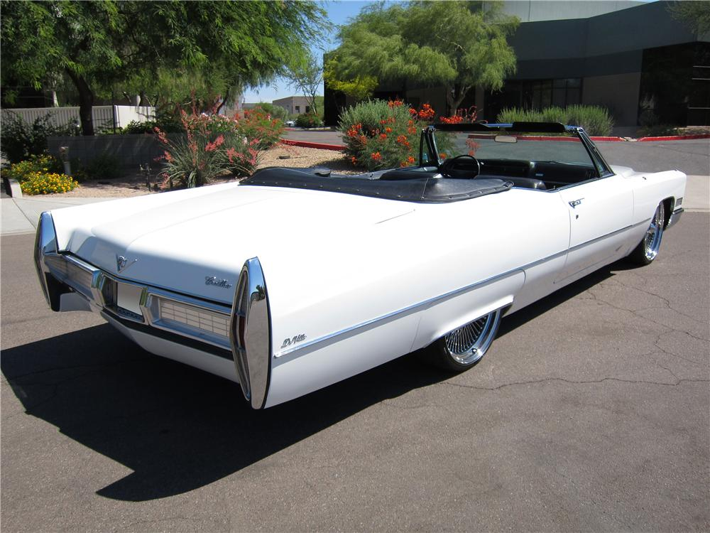 1967 CADILLAC DE VILLE CUSTOM CONVERTIBLE - Rear 3/4 - 108311