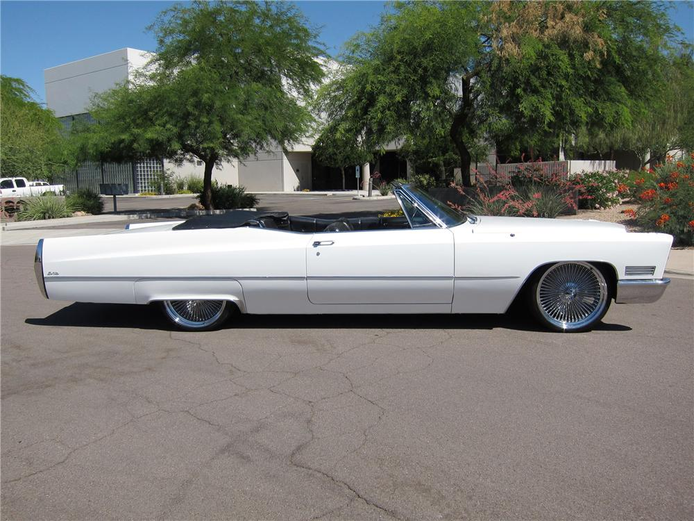 1967 CADILLAC DE VILLE CUSTOM CONVERTIBLE - Side Profile - 108311