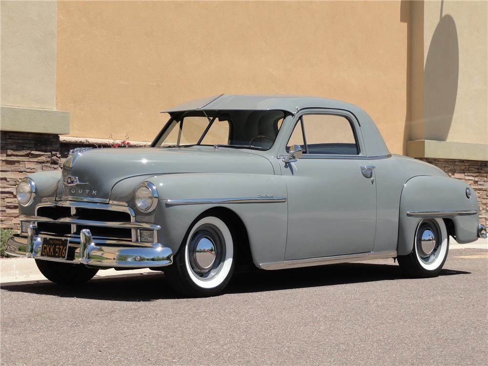 1950 PLYMOUTH DELUXE 2 DOOR COUPE - Front 3/4 - 108319