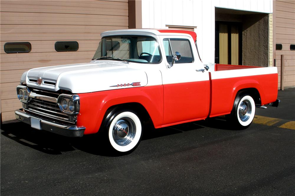 Front Web on 1960 Ford F100 Pickup Truck