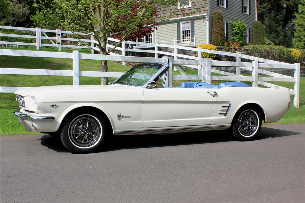 1966 FORD MUSTANG CONVERTIBLE - Side Profile - 108436