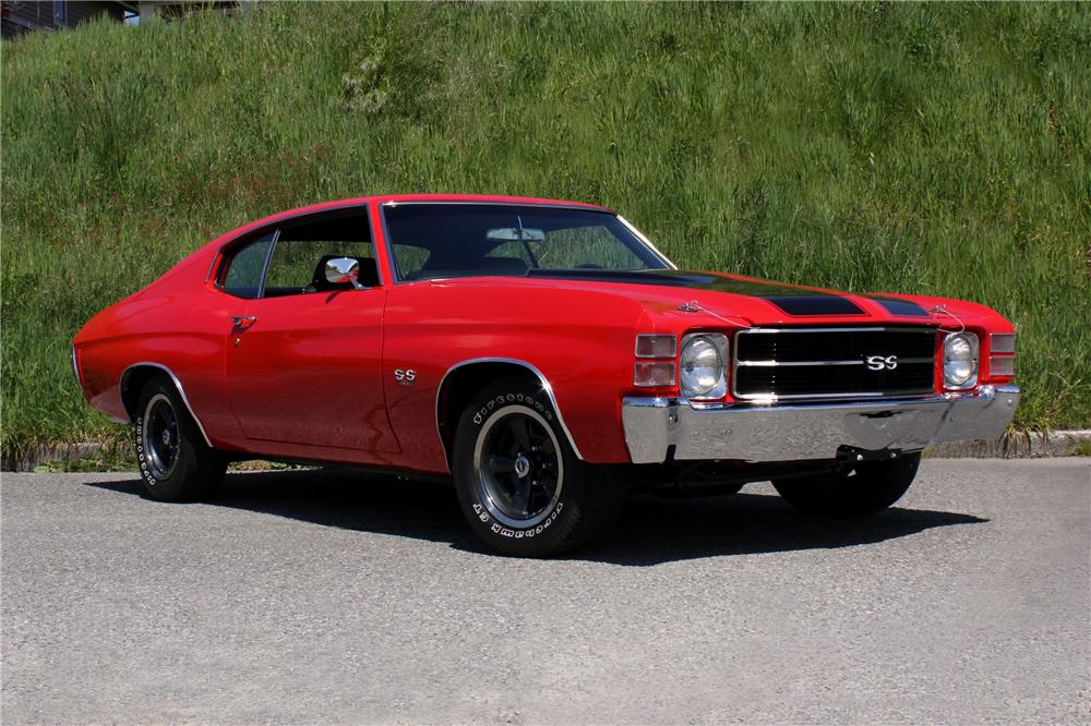 1971 CHEVROLET CHEVELLE SS 2 DOOR COUPE - Front 3/4 - 108437