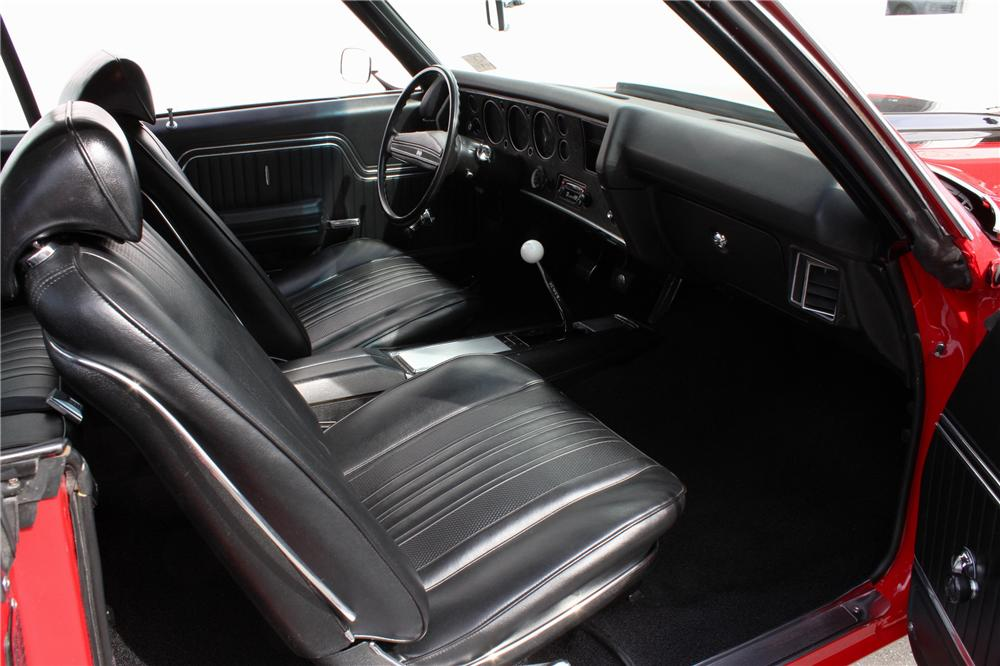 1971 CHEVROLET CHEVELLE SS 2 DOOR COUPE - Interior - 108437