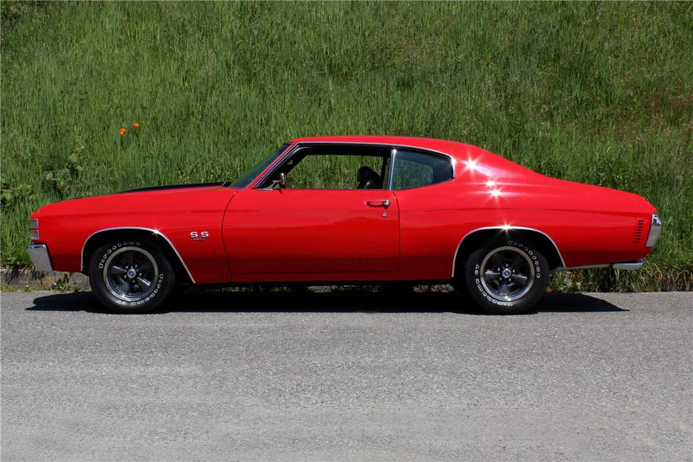 1971 CHEVROLET CHEVELLE SS 2 DOOR COUPE - Side Profile - 108437
