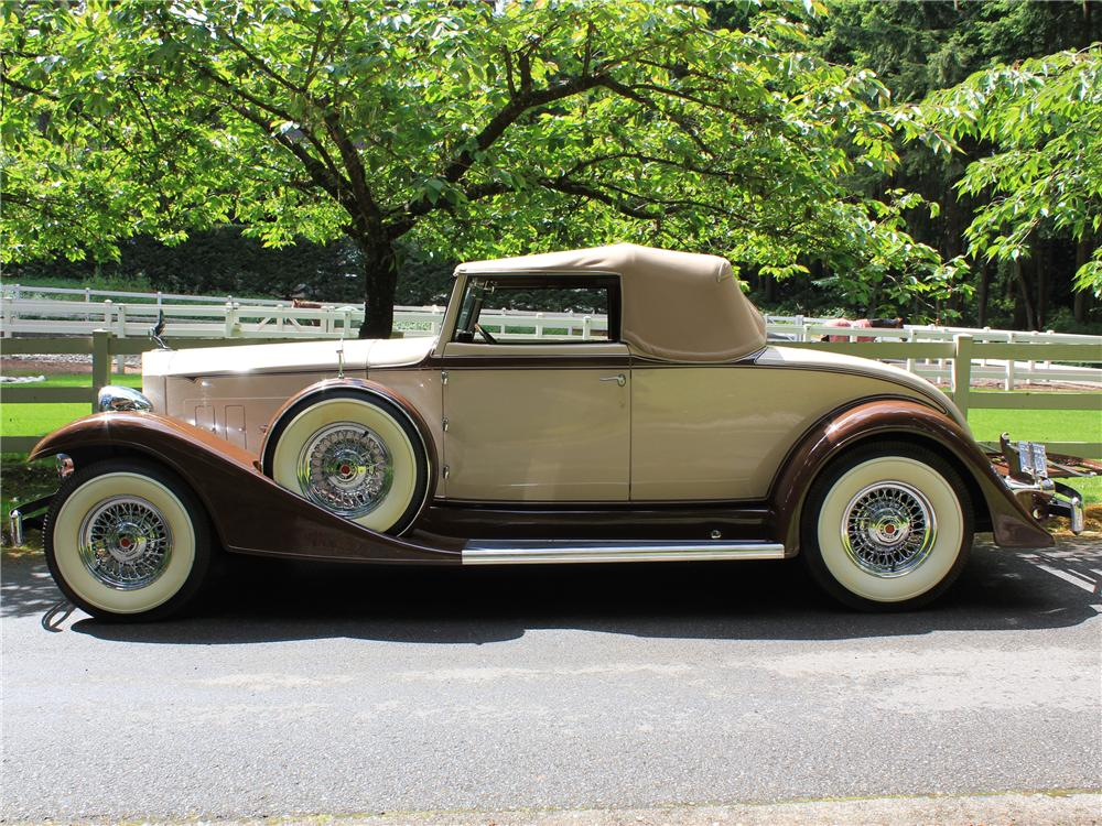 1933 PACKARD ROADSTER RE-CREATION - Side Profile - 108440