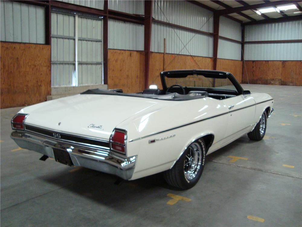 1969 CHEVROLET CHEVELLE MALIBU CONVERTIBLE - Rear 3/4 - 108455