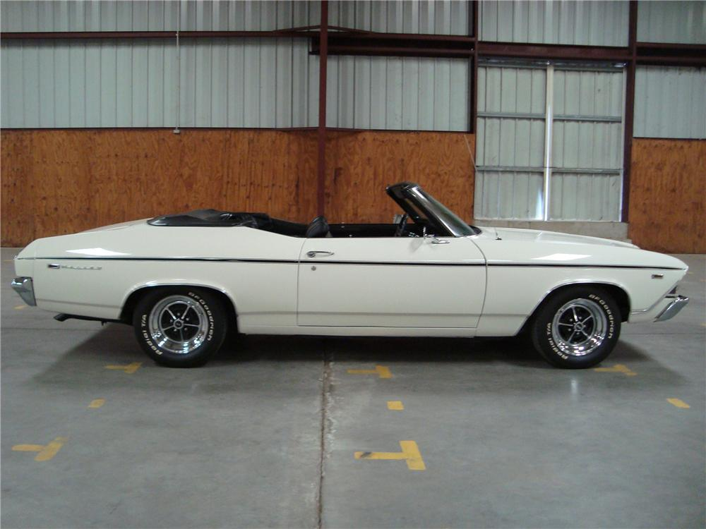 1969 CHEVROLET CHEVELLE MALIBU CONVERTIBLE - Side Profile - 108455