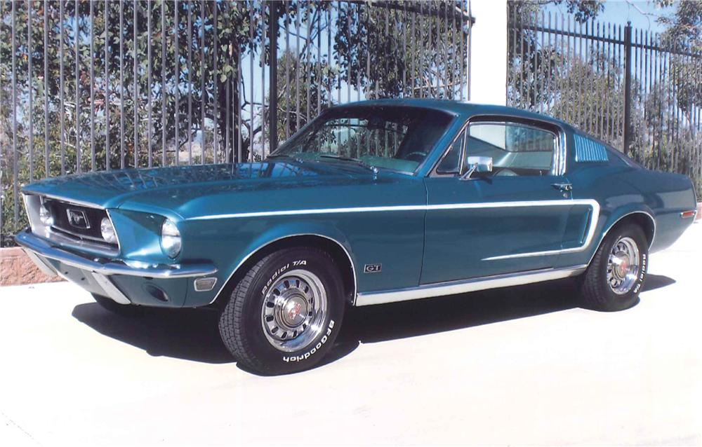 1968 FORD MUSTANG GT FASTBACK - Front 3/4 - 108461