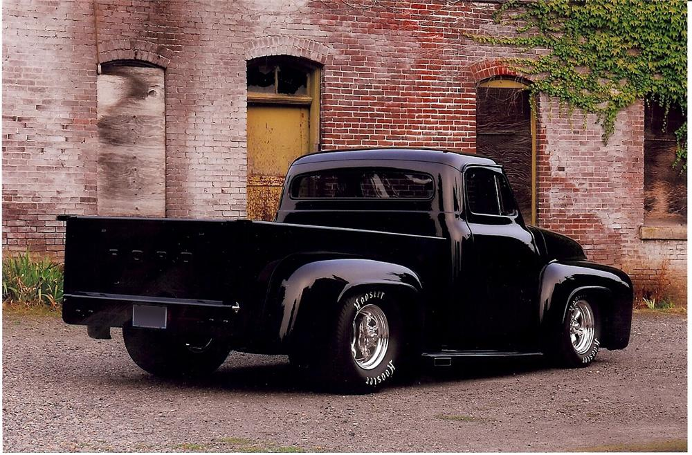 1955 FORD CUSTOM PICKUP - Rear 3/4 - 108470
