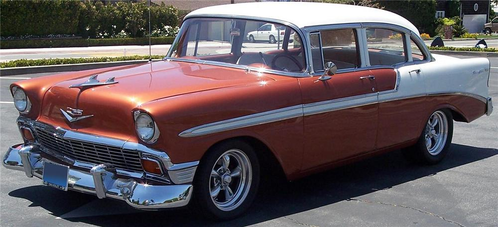 1956 chevrolet bel air 4 door custom sedan 108476