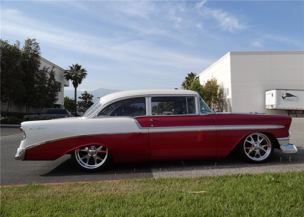 1956 CHEVROLET 150 CUSTOM POST SEDAN - Side Profile - 108488