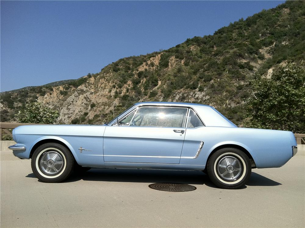 1965 FORD MUSTANG 2 DOOR COUPE - Side Profile - 108694