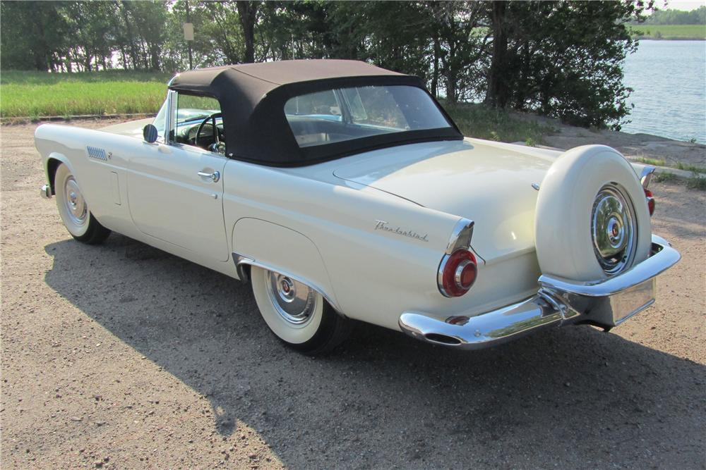 1956 FORD THUNDERBIRD CONVERTIBLE - Rear 3/4 - 108701