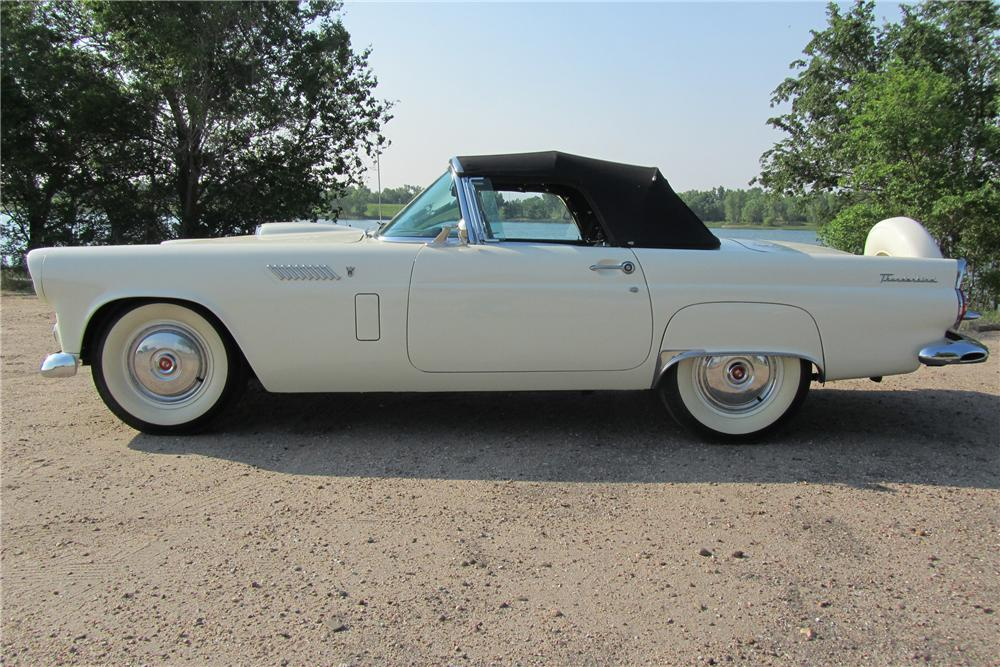1956 FORD THUNDERBIRD CONVERTIBLE - Side Profile - 108701