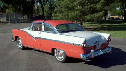 1956 FORD CROWN VICTORIA 2 DOOR HARDTOP - Rear 3/4 - 108703
