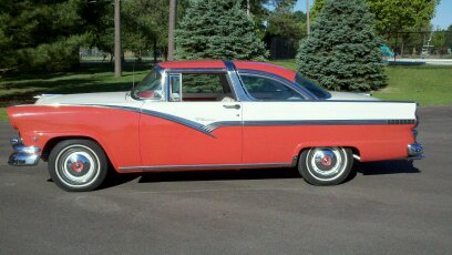 1956 FORD CROWN VICTORIA 2 DOOR HARDTOP - Side Profile - 108703