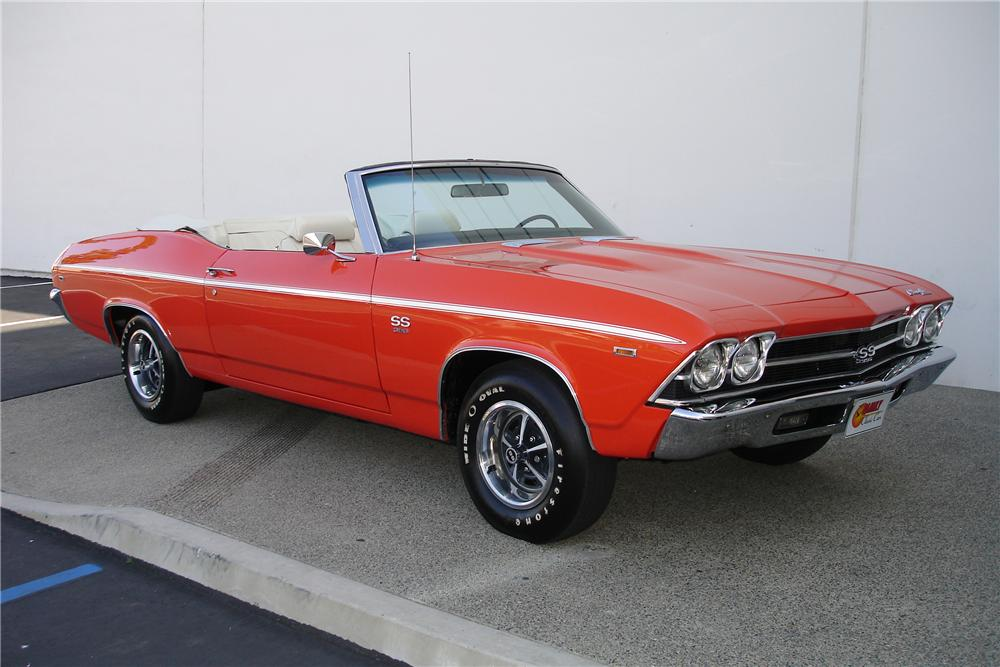 1969 CHEVROLET CHEVELLE SS 396 CONVERTIBLE - Front 3/4 - 108714