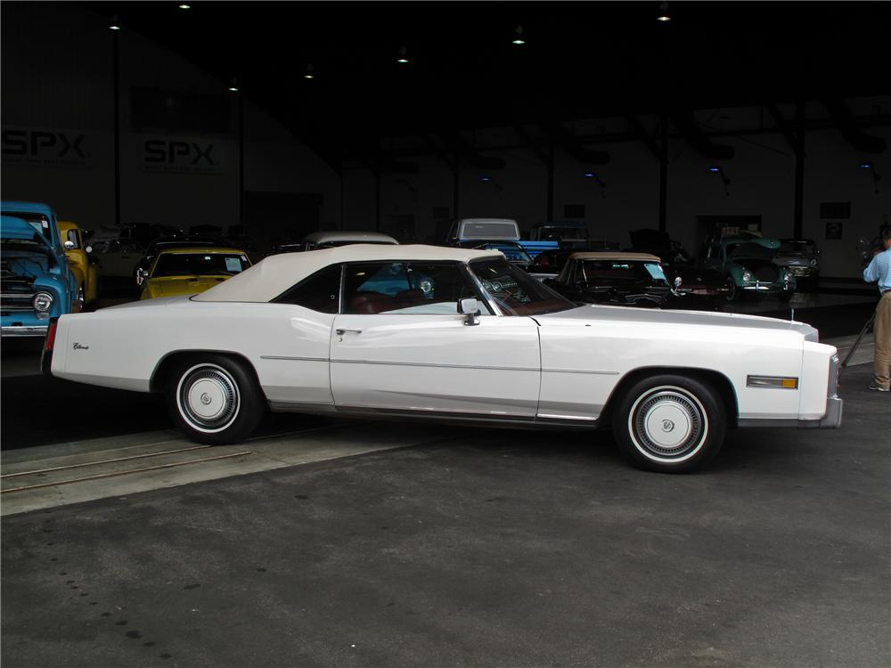 1976 CADILLAC ELDORADO CONVERTIBLE - Side Profile - 108730