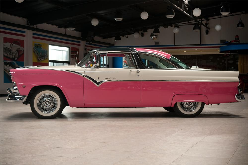 1955 ford crown victoria skyliner 2 door coupe side profile 108736. Cars Review. Best American Auto & Cars Review