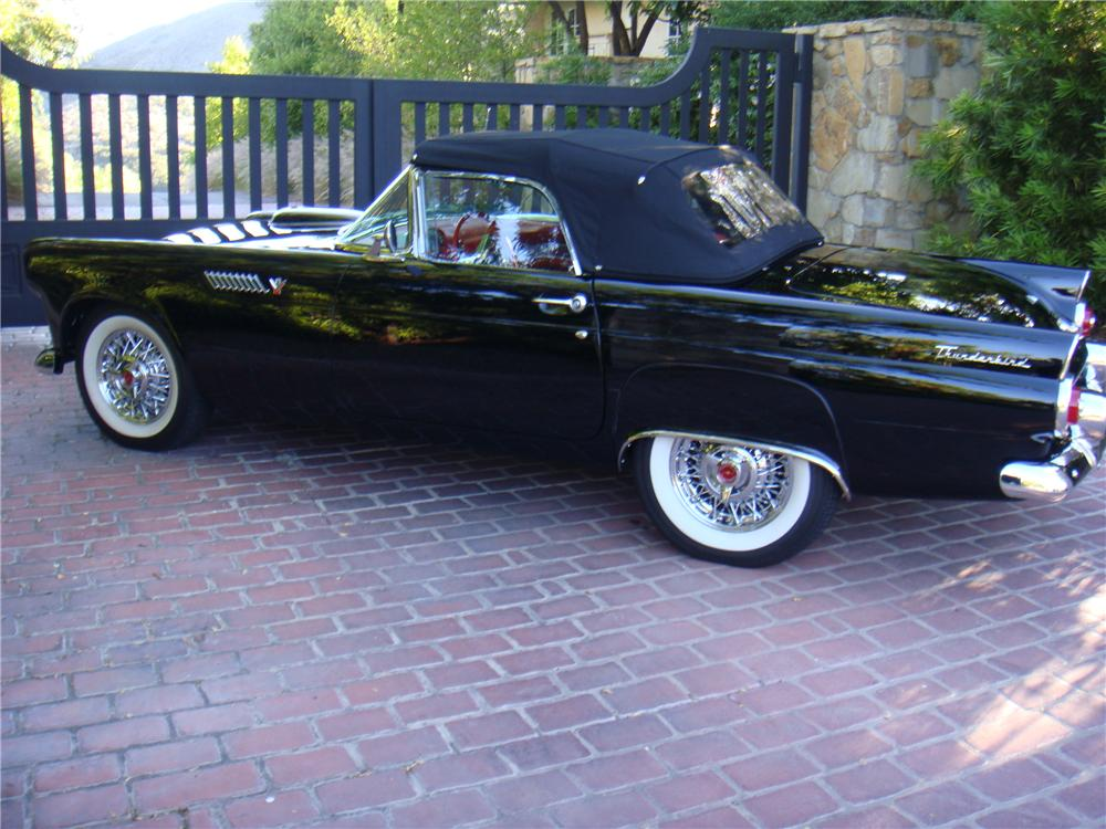 1955 FORD THUNDERBIRD CONVERTIBLE - Rear 3/4 - 110174