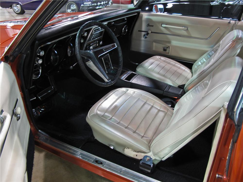 1968 CHEVROLET CAMARO 2 DOOR CUSTOM COUPE - Interior - 111273