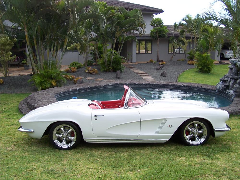 1962 CHEVROLET CORVETTE CUSTOM CONVERTIBLE - Side Profile - 112565