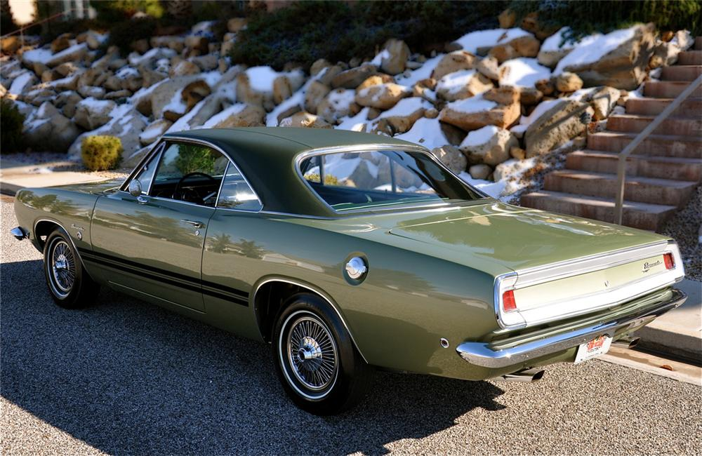 1968 PLYMOUTH BARRACUDA FORMULA S 2 DOOR HARDTOP - Rear 3/4 - 112572