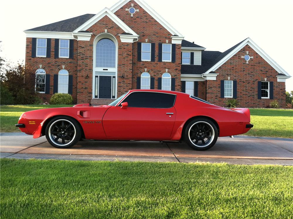 1974 PONTIAC TRANS AM 2 DOOR HARDTOP - Side Profile - 112585
