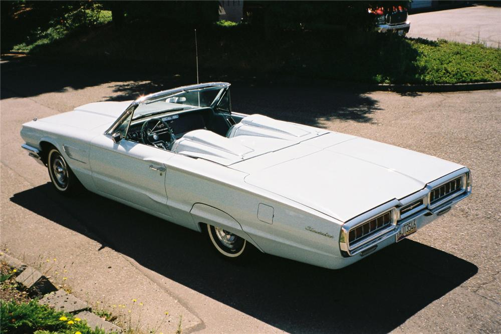 1965 FORD THUNDERBIRD 2 DOOR CONVERTIBLE - Rear 3/4 - 112607