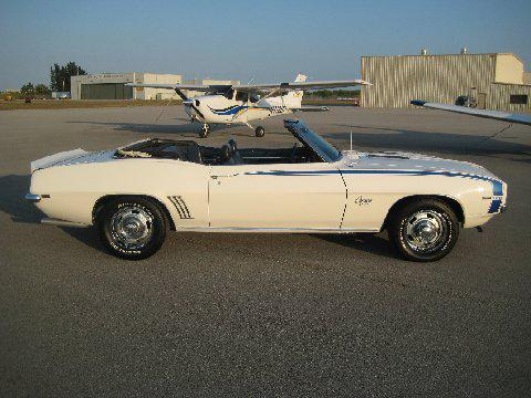 1969 CHEVROLET CAMARO CONVERTIBLE - Side Profile - 112608
