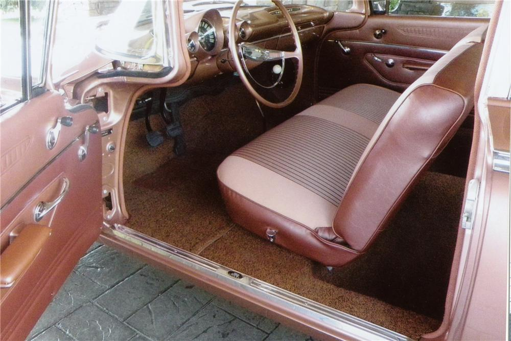 1960 CHEVROLET BEL AIR 2 DOOR SEDAN - Interior - 112610