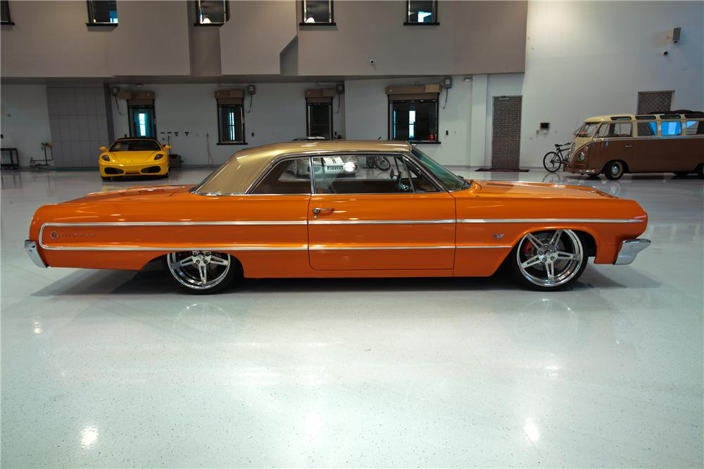 1964 CHEVROLET IMPALA CUSTOM 2 DOOR HARDTOP - Side Profile - 112639
