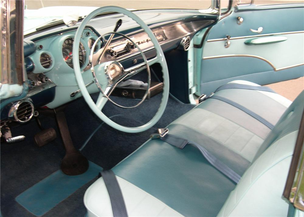 1957 CHEVROLET BEL AIR CONVERTIBLE - Interior - 112642