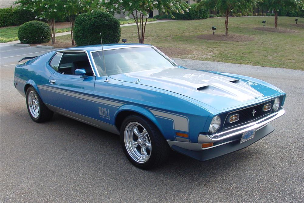 1972 FORD MUSTANG MACH 1 2 DOOR COUPE - Front 3/4 - 112659