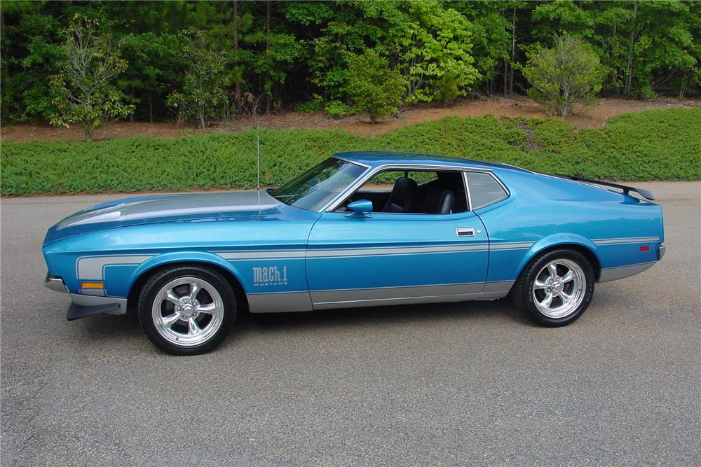 1972 FORD MUSTANG MACH 1 2 DOOR COUPE - Side Profile - 112659