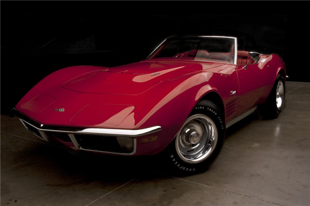 1971 CHEVROLET CORVETTE CONVERTIBLE - Front 3/4 - 112679