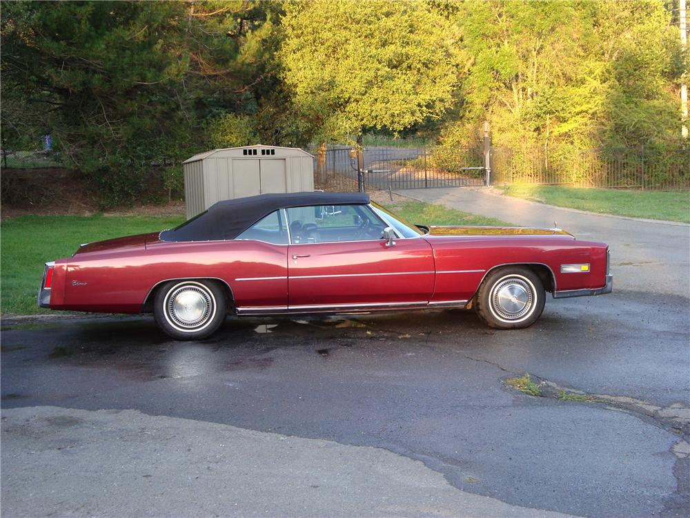 1976 CADILLAC ELDORADO CONVERTIBLE - Side Profile - 112681