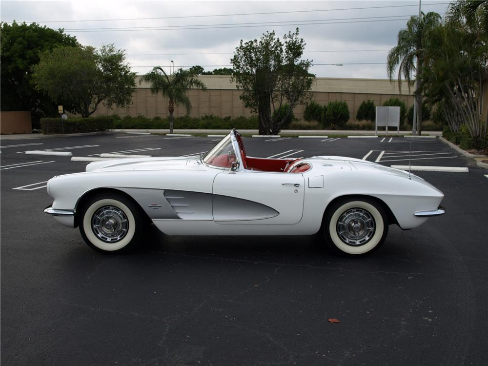 1961 CHEVROLET CORVETTE CUSTOM CONVERTIBLE - Side Profile - 112689