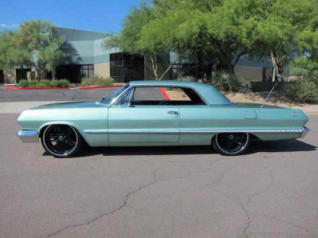 1963 CHEVROLET IMPALA CUSTOM 2 DOOR HARDTOP - Side Profile - 112701