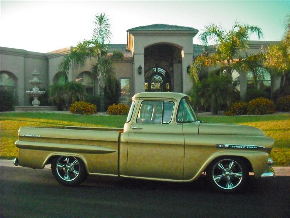 1959 CHEVROLET APACHE CUSTOM PICKUP - Side Profile - 112707