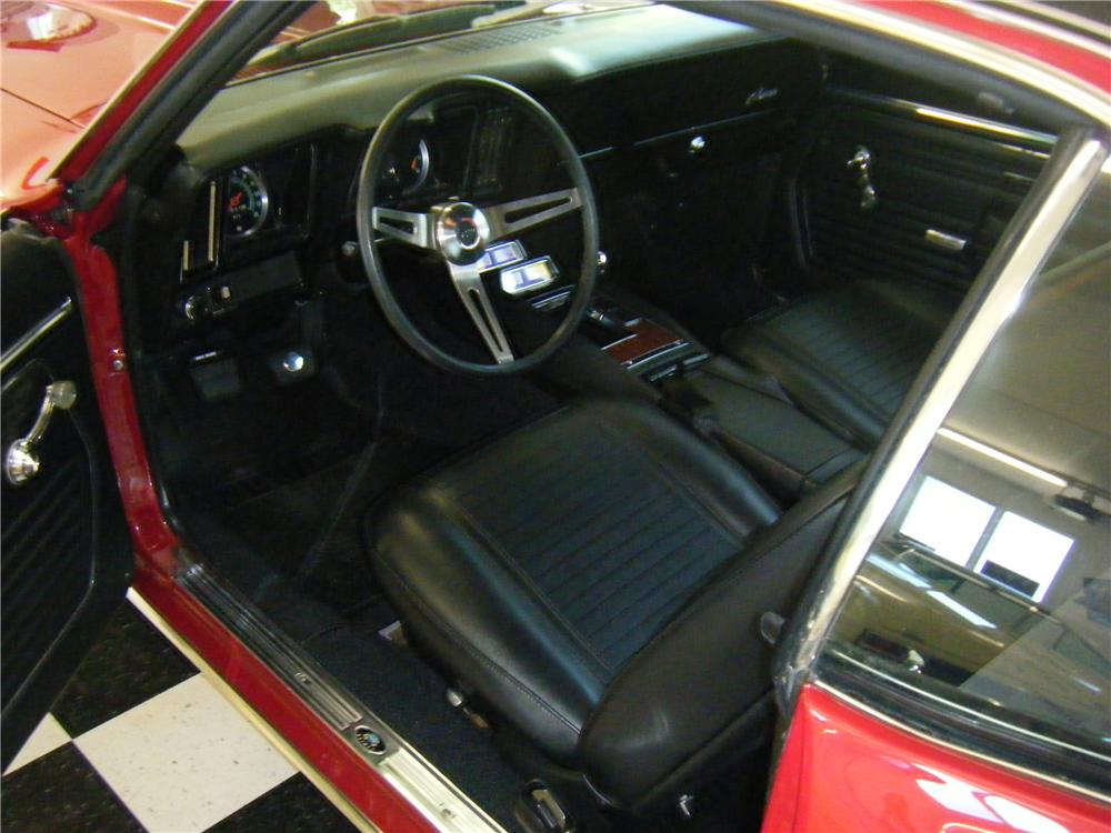 1969 CHEVROLET CAMARO COUPE - Interior - 112743