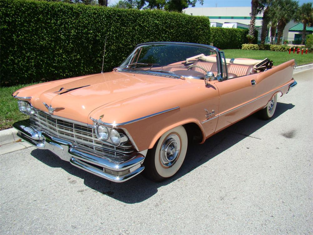 1957 CHRYSLER IMPERIAL CROWN CONVERTIBLE - Front 3/4 - 112766