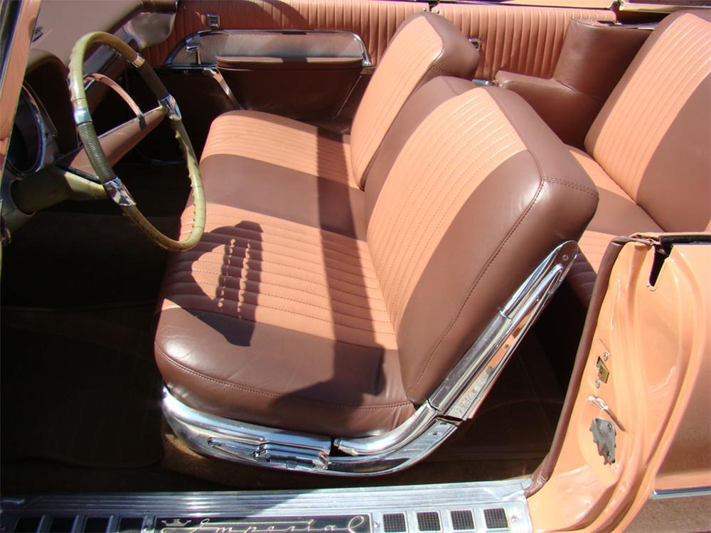 1957 CHRYSLER IMPERIAL CROWN CONVERTIBLE - Interior - 112766