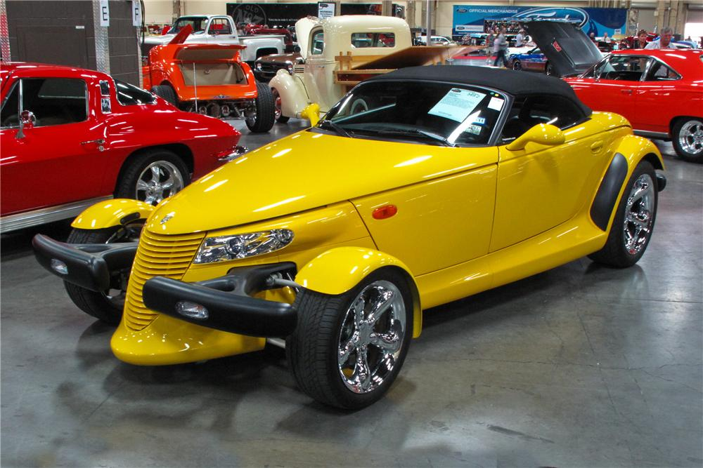 2000 PLYMOUTH PROWLER CONVERTIBLE - Front 3/4 - 112775