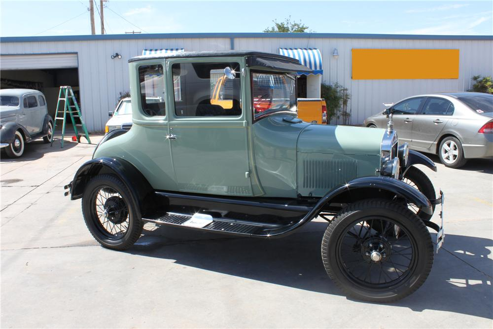 1927 FORD MODEL T COUPE - Side Profile - 112784