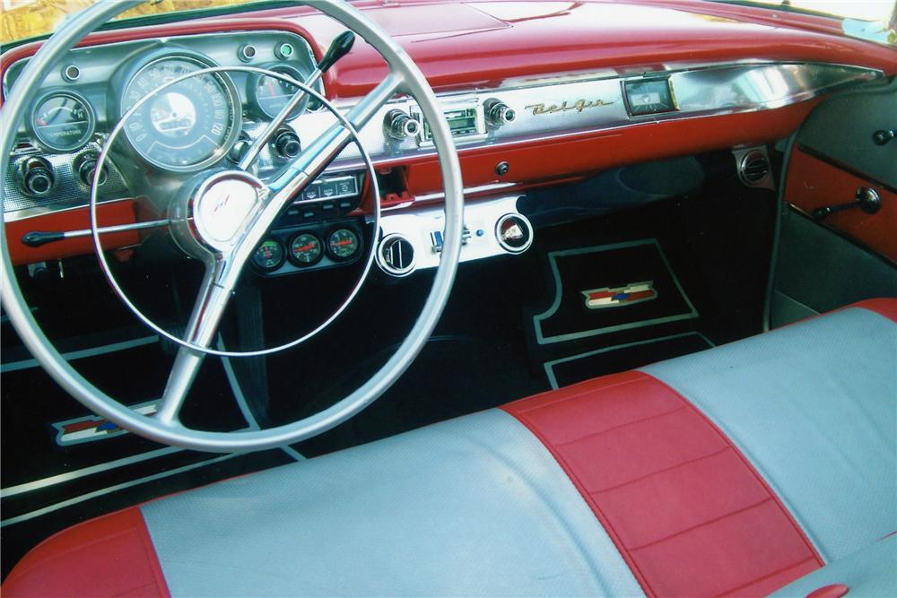 1957 CHEVROLET BEL AIR CUSTOM CONVERTIBLE - Interior - 112790
