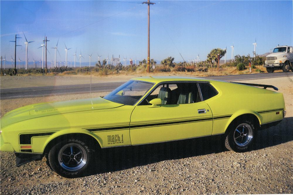 1972 FORD MUSTANG MACH 1 FASTBACK - Side Profile - 112801