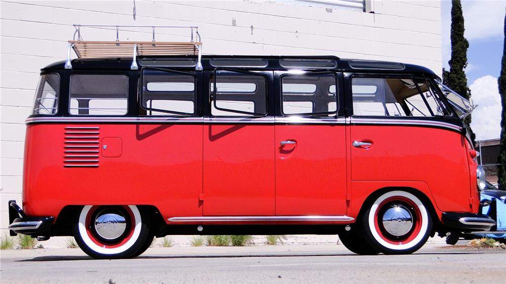 1961 VOLKSWAGEN 23 WINDOW SAMBA BUS - Side Profile - 112811